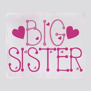 Heart Big Sister Throw Blanket