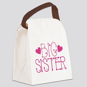 Heart Big Sister Canvas Lunch Bag