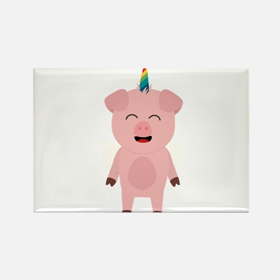 Pig with Unicorn Horn Magnets