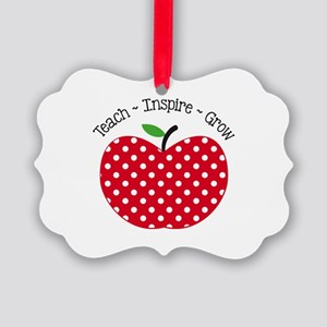 Teach Inspire Grow Ornament