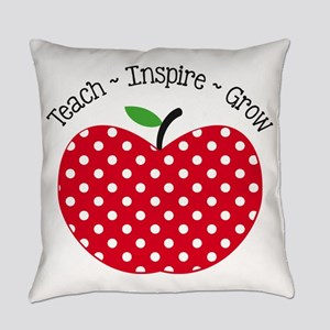 Teach Inspire Grow Everyday Pillow