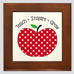 Teach Inspire Grow Framed Tile