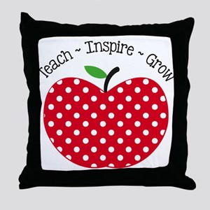 Teach Inspire Grow Throw Pillow