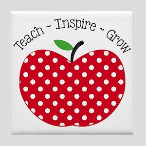 Teach Inspire Grow Tile Coaster