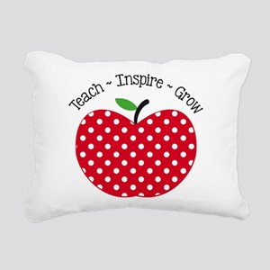 Teach Inspire Grow Rectangular Canvas Pillow
