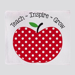 Teach Inspire Grow Throw Blanket
