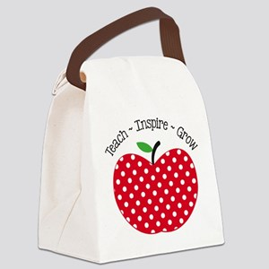 Teach Inspire Grow Canvas Lunch Bag
