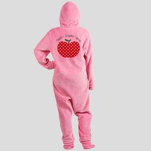 Teach Inspire Grow Footed Pajamas