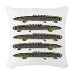 Ornate Bichir Woven Throw Pillow