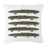 Ornate Bichir Woven Throw Pillow