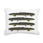 Ornate Bichir Rectangular Canvas Pillow