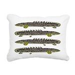 Ornate Bichir Rectangular Canvas Pillow