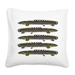 Ornate Bichir Square Canvas Pillow