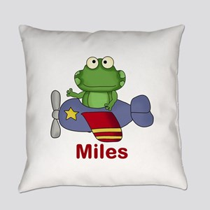 Miles' Flying Frog Everyday Pillow