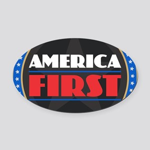 AMERICA FIRST Oval Car Magnet