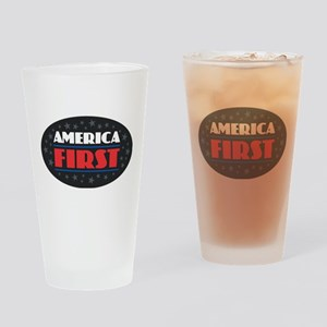 AMERICA FIRST Drinking Glass