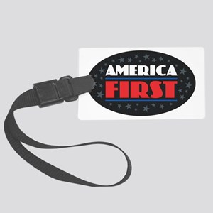 AMERICA FIRST Large Luggage Tag