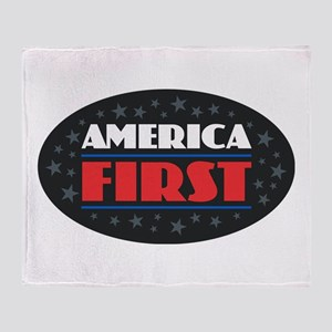 AMERICA FIRST Throw Blanket
