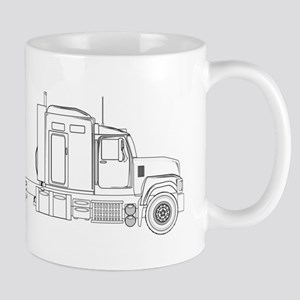 Truck Tractor Unit Outline Mugs