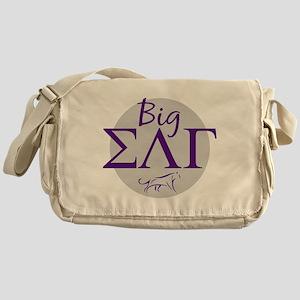 Sigma Lambda Gamma Big Purple Messenger Bag