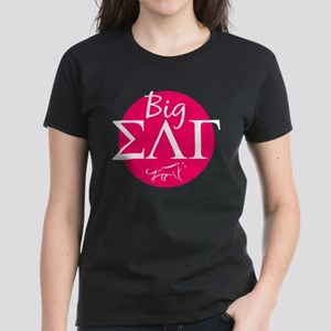 Sigma Lambda Gamma Big Pink Women's Dark T-Shirt