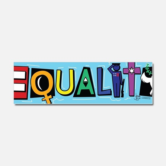 Funny Equality Car Magnet 10 x 3