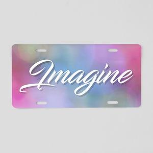 Imagine Aluminum License Plate