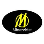 Minarchist Oval Sticker
