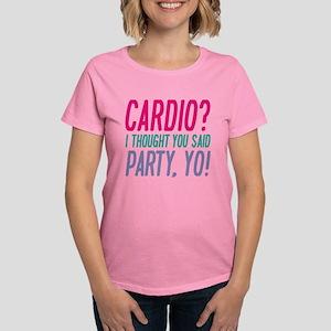 Cardio Party Yo Women's Dark T-Shirt