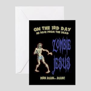 Atheist greeting cards cafepress zombie jesus greeting cards m4hsunfo