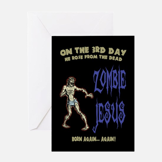 Zombie Jesus Greeting Cards