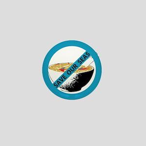 save our seas no shark fin soup Mini Button
