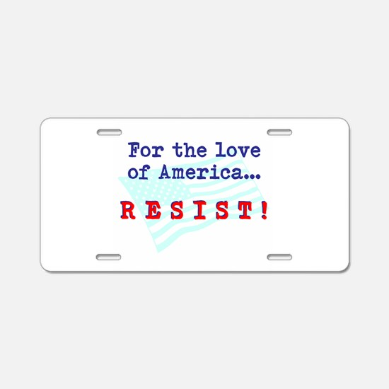 Resist Aluminum License Plate