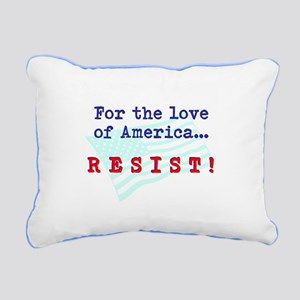 Resist Rectangular Canvas Pillow