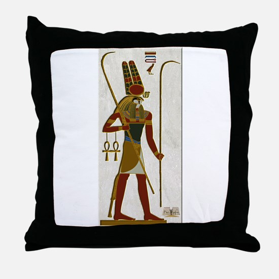 Montu God of War Throw Pillow