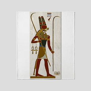 Montu God Of War Throw Blanket