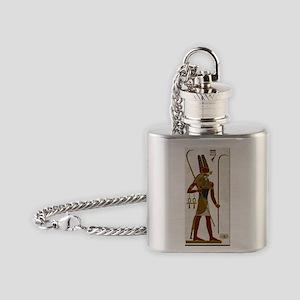 Montu God of War Flask Necklace