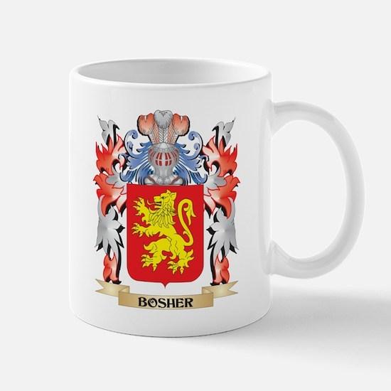 Bosher Coat of Arms - Family Crest Mugs