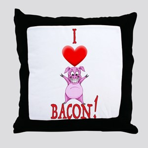 I Love Bacon! Throw Pillow