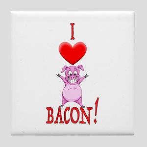 I Love Bacon! Tile Coaster