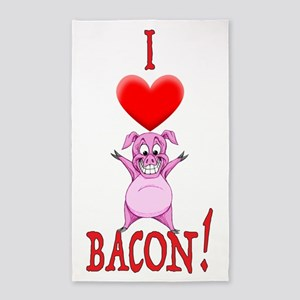 I Love Bacon! Area Rug