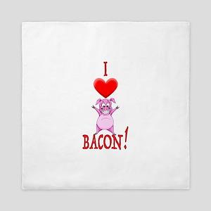 I Love Bacon! Queen Duvet