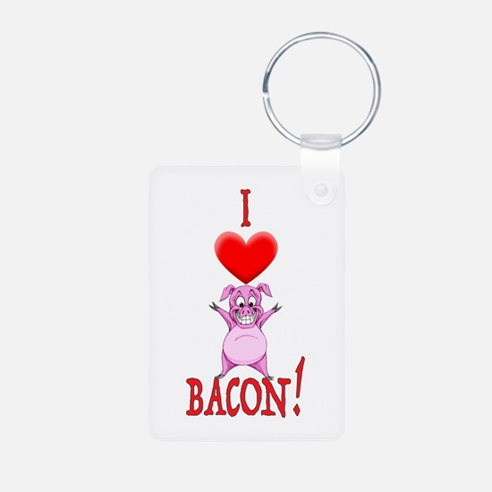 I Love Bacon! Keychains