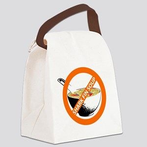 save our seas no shark fin soup Canvas Lunch Bag