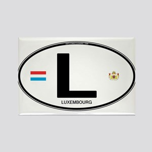 Luxembourg Euro Oval Rectangle Magnet