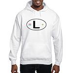 Luxembourg Euro Oval Hooded Sweatshirt