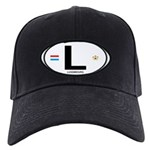 Luxembourg Euro Oval Black Cap