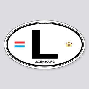 Luxembourg Euro Oval Oval Sticker