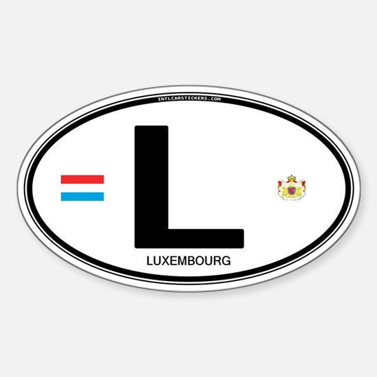 Luxembourg Euro Oval Oval Decal