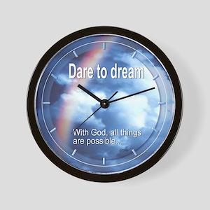 Dare to Dream Wall Clock (rainbow)